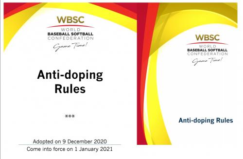 La  Federación Mundial de Softboll (WBSC), puso en  vigor el nuevo Código Antidopaje.